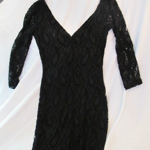 Urban Outfitter's Lacy Black Formal Dress